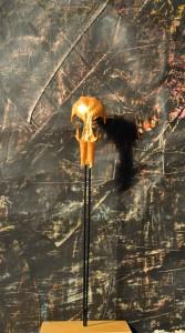 Ohne Titel, bemalter Knochen, 2011, Höhe 25,5 cm