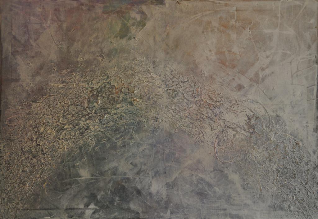 Narbe, Lack und Acryl auf Leinwand, 70x100