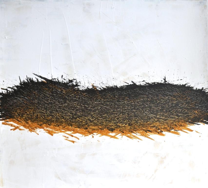 Nest, Acryl auf Holz, 44 x 48