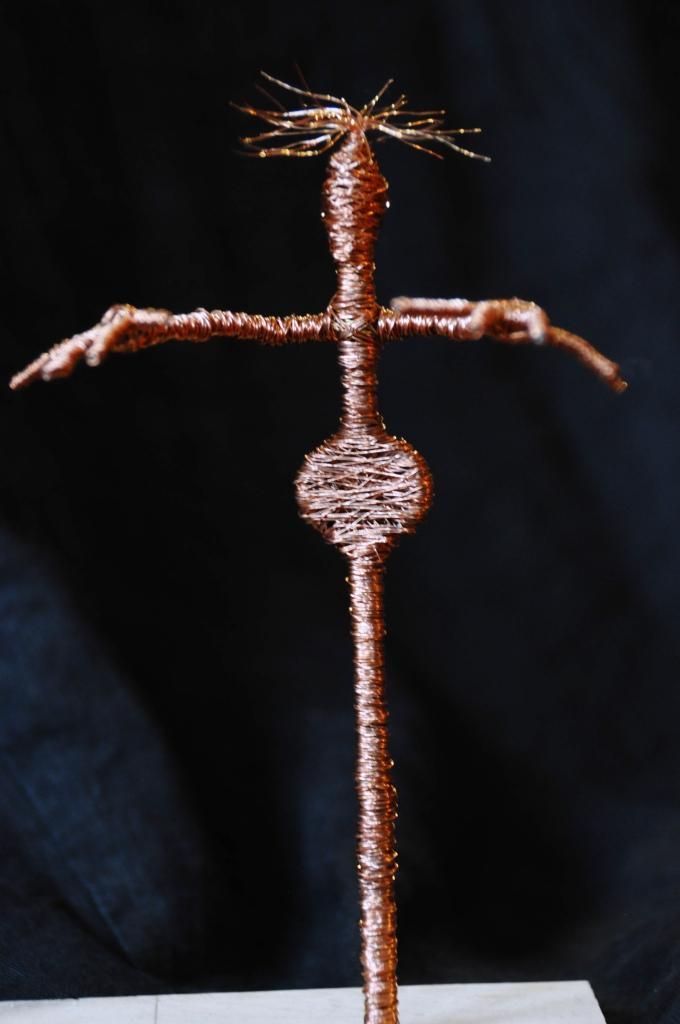 Ohne Titel, Kupferdraht um Draht, Höhe: 19 cm