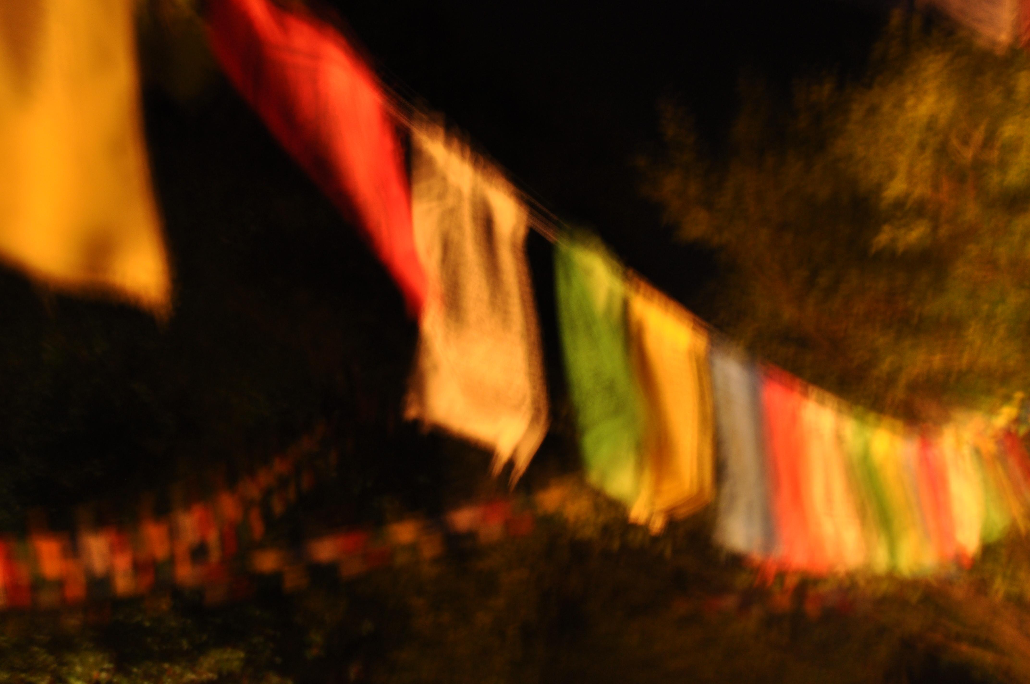 Prayerflags at Night, 2010